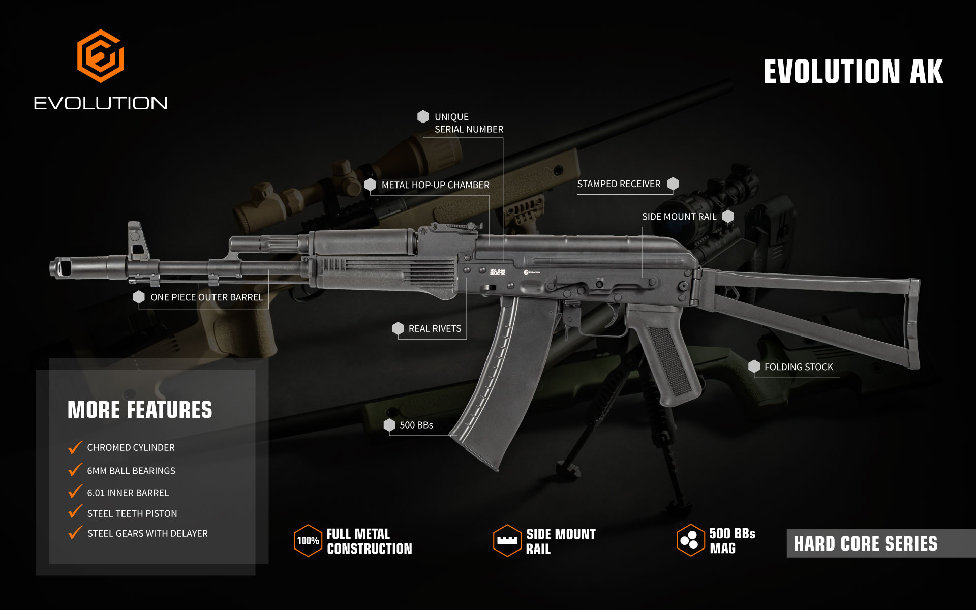Evolution AK air soft gun