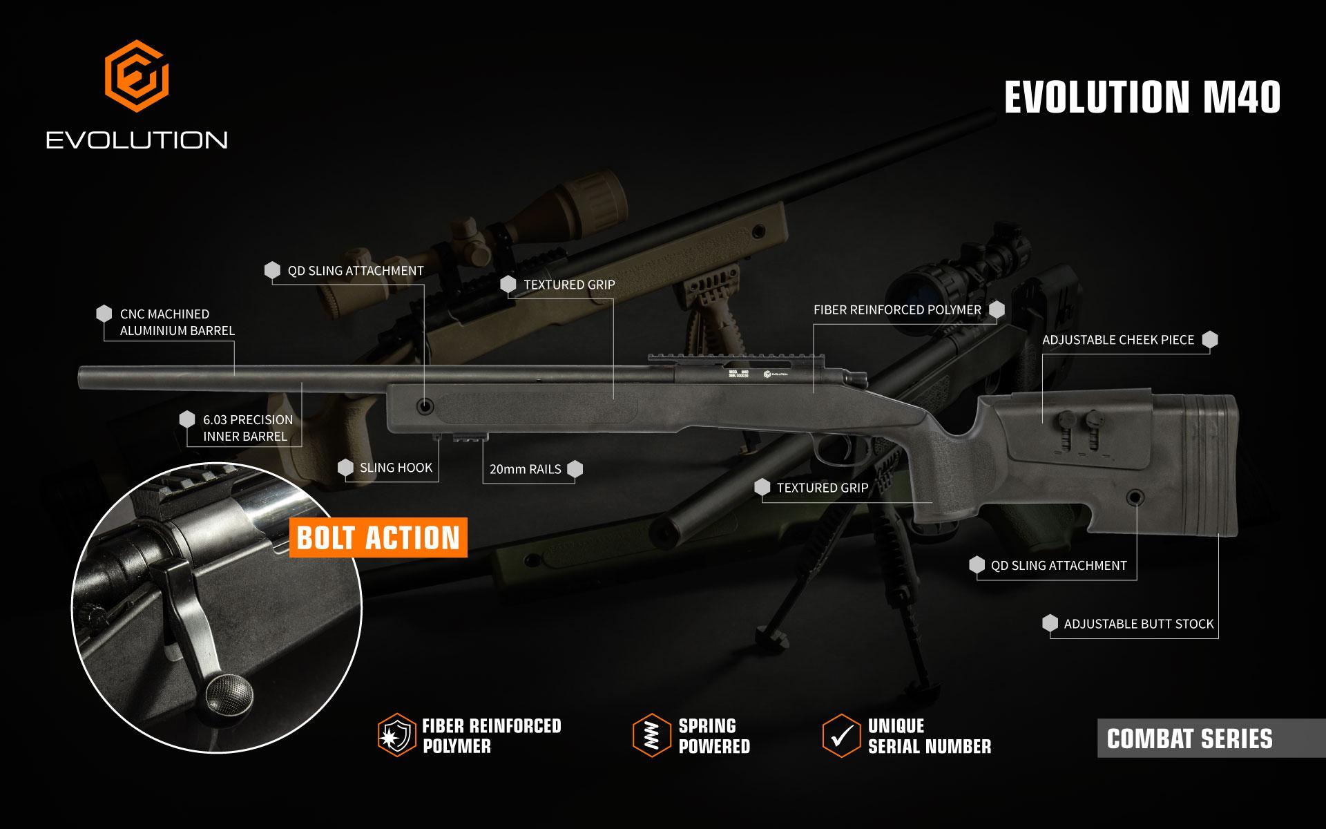 Evolution Combat Series M40 air soft gun