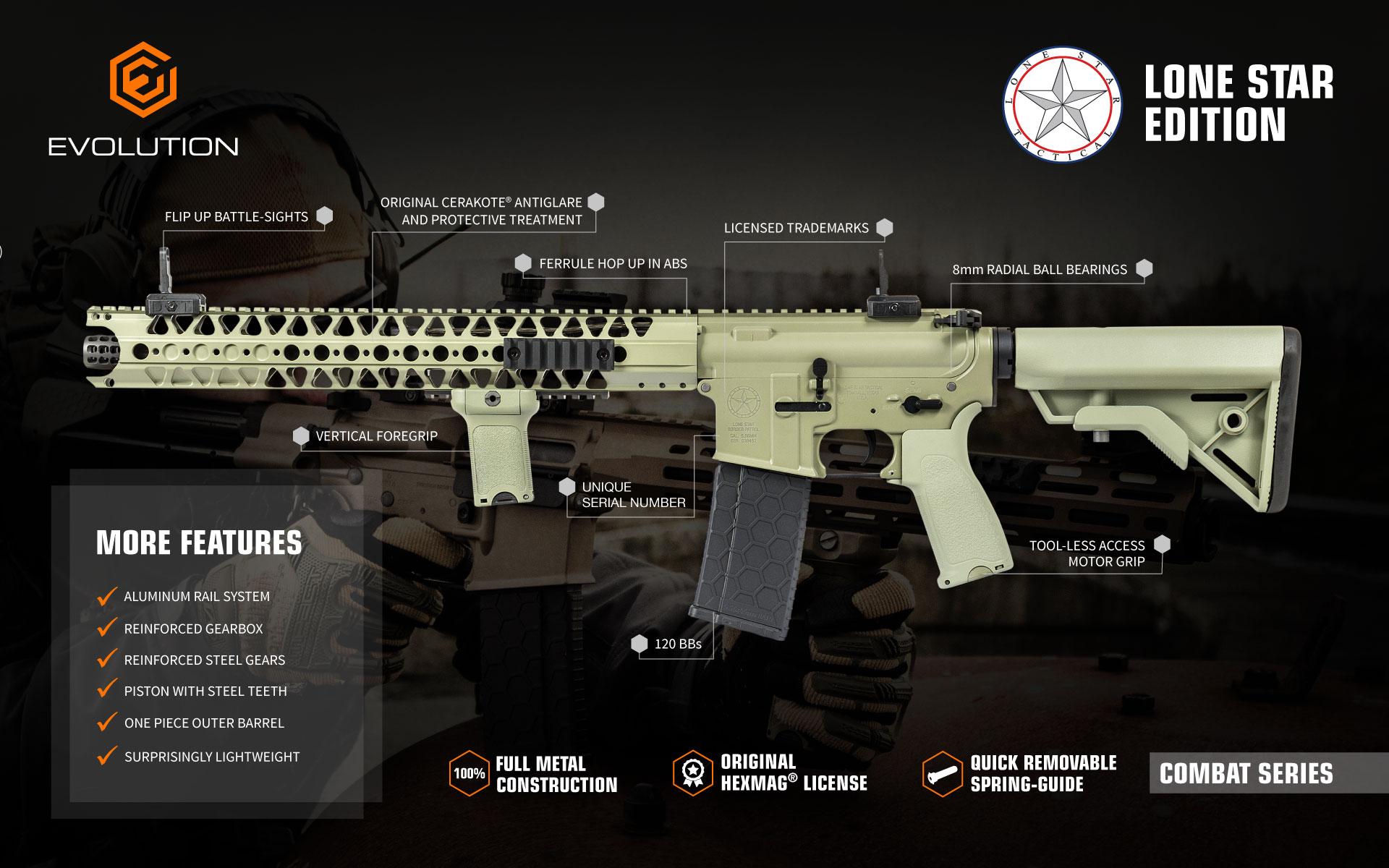 the evolution combat series air soft gun
