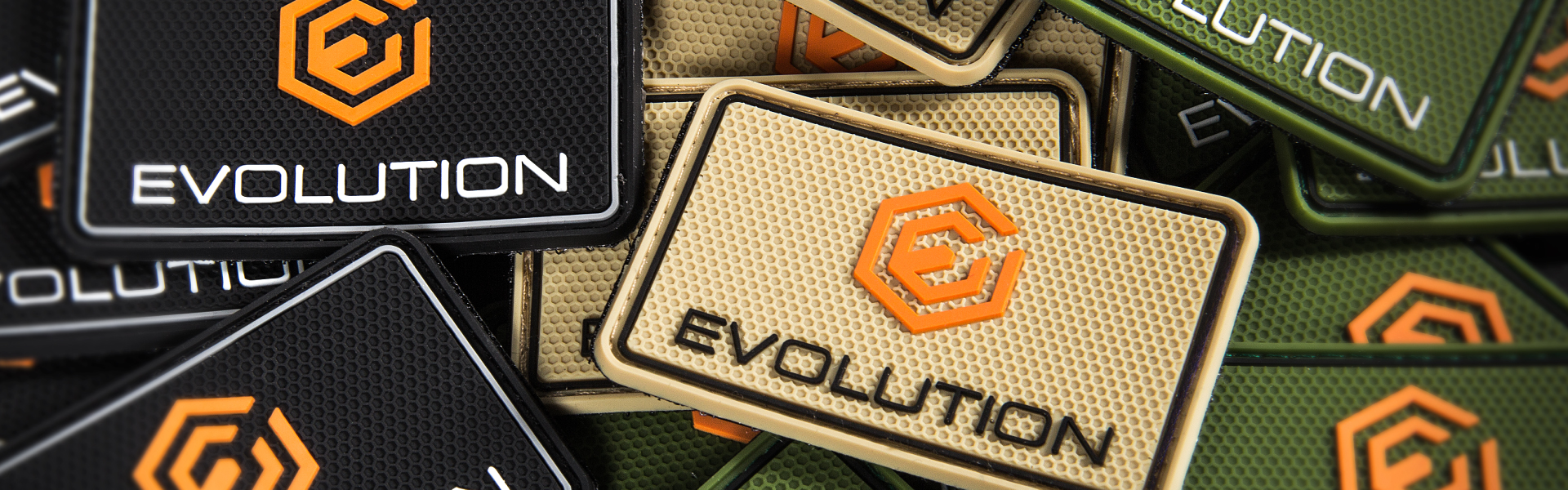 Evolution hats, patches and stickers