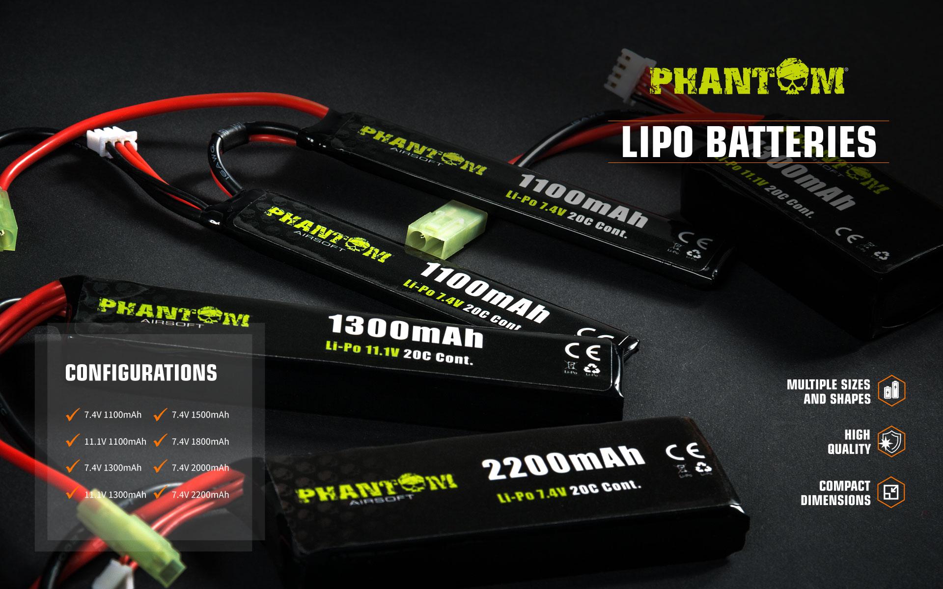Phantom Li-Po batteries