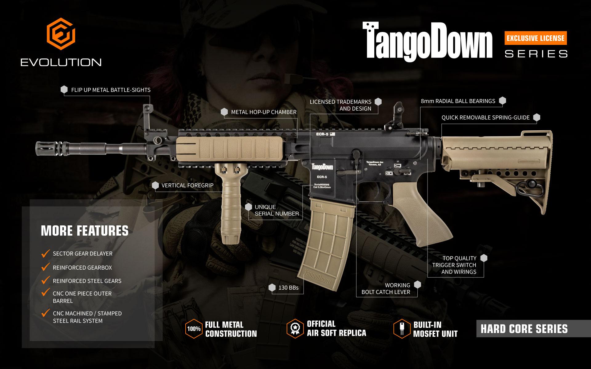 Evolution TangoDown air soft guns