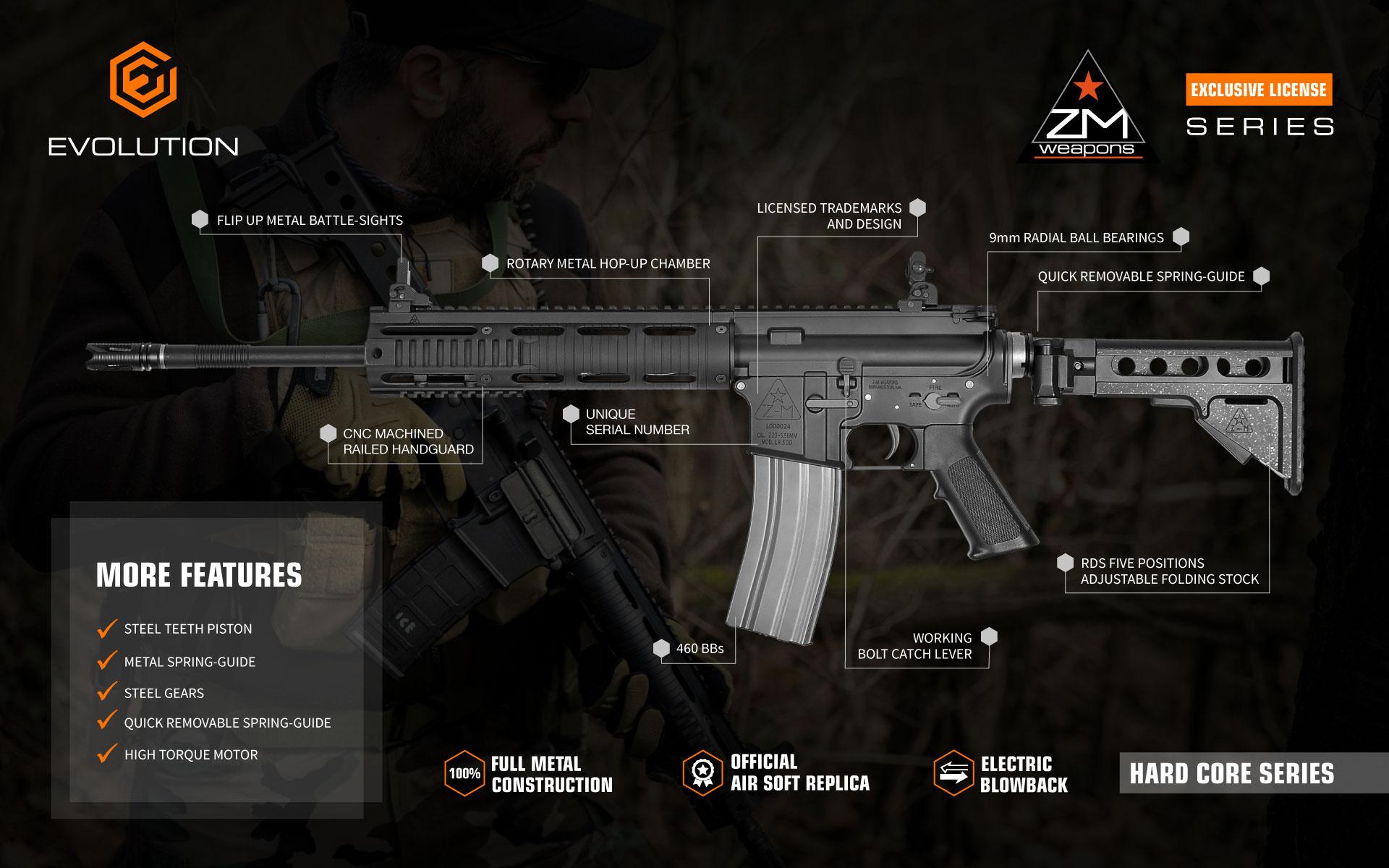 Evolution Z-M Weapons air soft guns