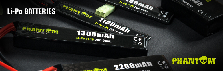 Phantom Li-Po batteries