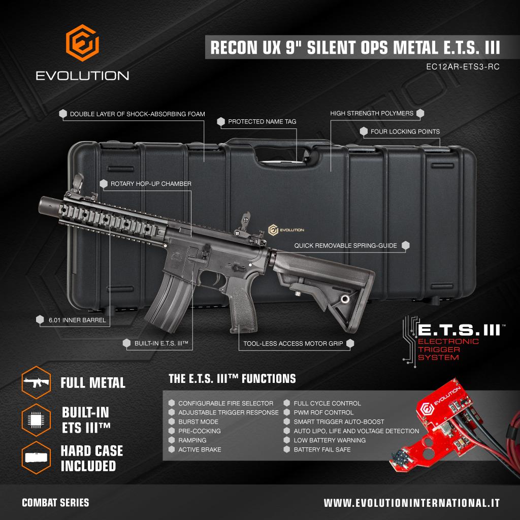 """Evolution Recon UX 9"""" Silent Ops Metal ETS III"""