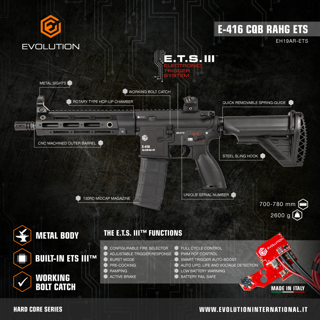 evolution hard core E.T.S. III air soft in action