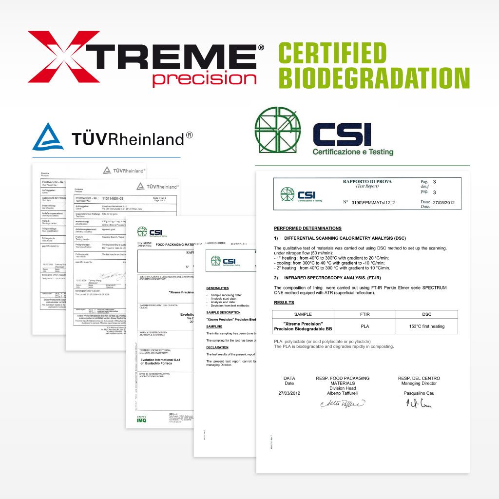 Evolution Xtreme Precision Certified Biodegradation